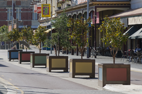 More new pot plants at Freo's Cappuccino Strip