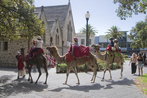 Camel rides at St John's Church