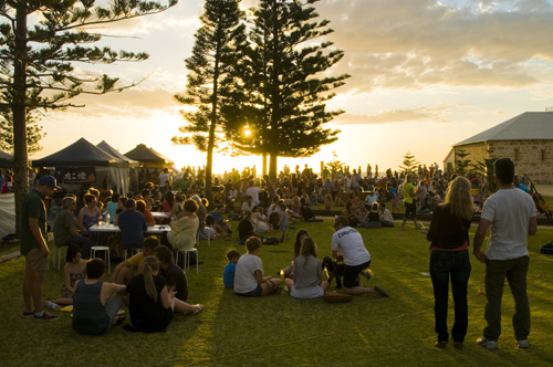 Bathers Beach Sunset Food Markets, Fremantle, Western Australia