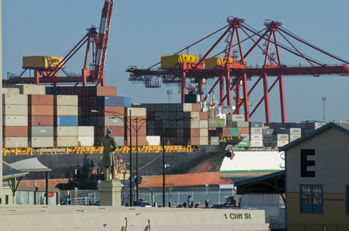 'Harbour Master' C.Y O'Connor overlooking Fremantle Port, Western Australia