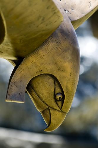 Egyptian sun god HORUS sculpture by J Shed artist Greg James, Fremantle, Western Australia