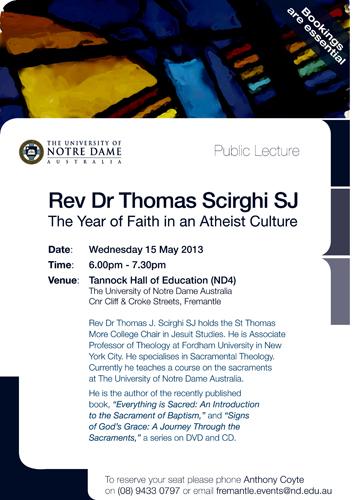 Public Lecture Flyer - Fr Scirghi FINAL
