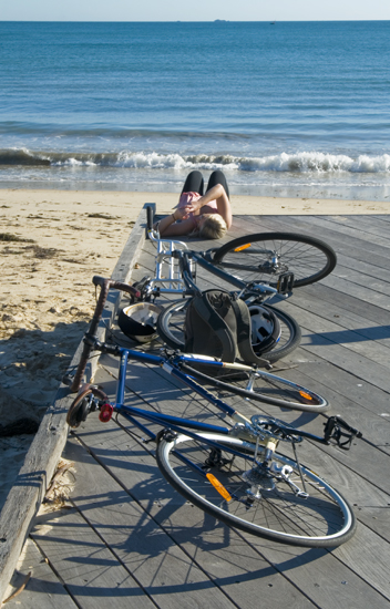 bikes beach beauty