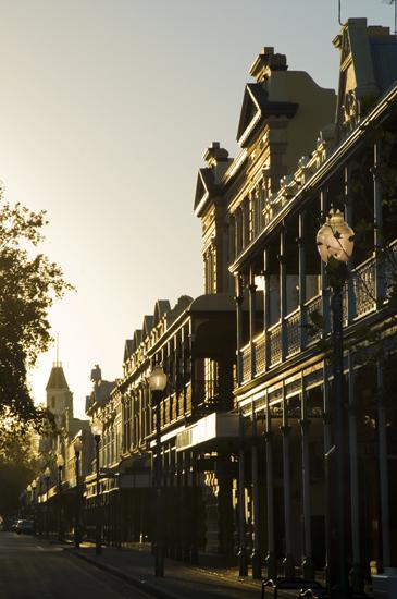 Fremantle High Street at sunrise