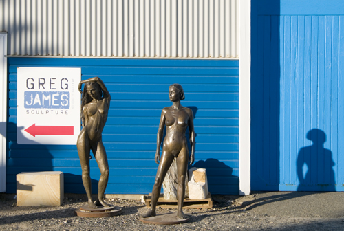 Sculptures by Greg James at J Shed