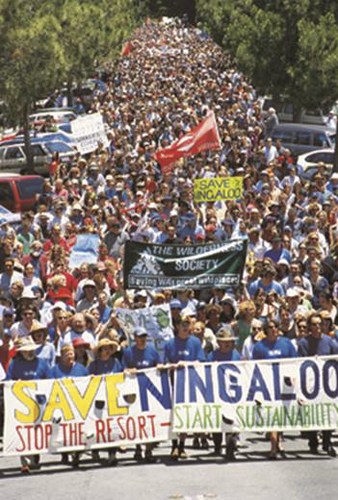 Ningaloo protest in Freo