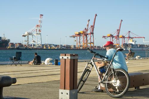 enjoying the port 1