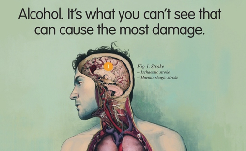 Print ad for new alcohol awareness campaign