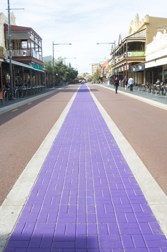 purple strip