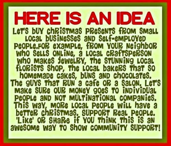 Buy small for Christmas