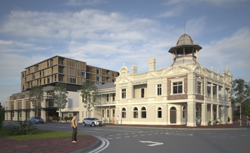Artists impressions of the Guildford Hotel.