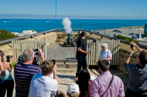 firing of 1300 hours cannon at Roundhouse
