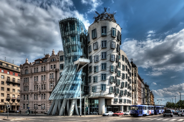Prague building by architect Frank Gehry