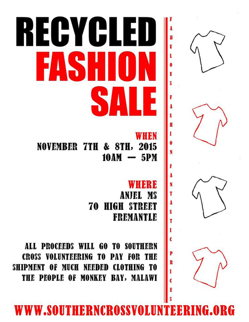 Recycles Fashion Sale. Nov 7