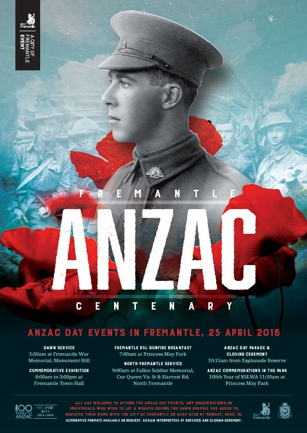 ANZAC DAY Freo poster