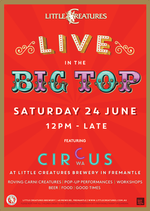 Big Top Littl Creatures 24 June