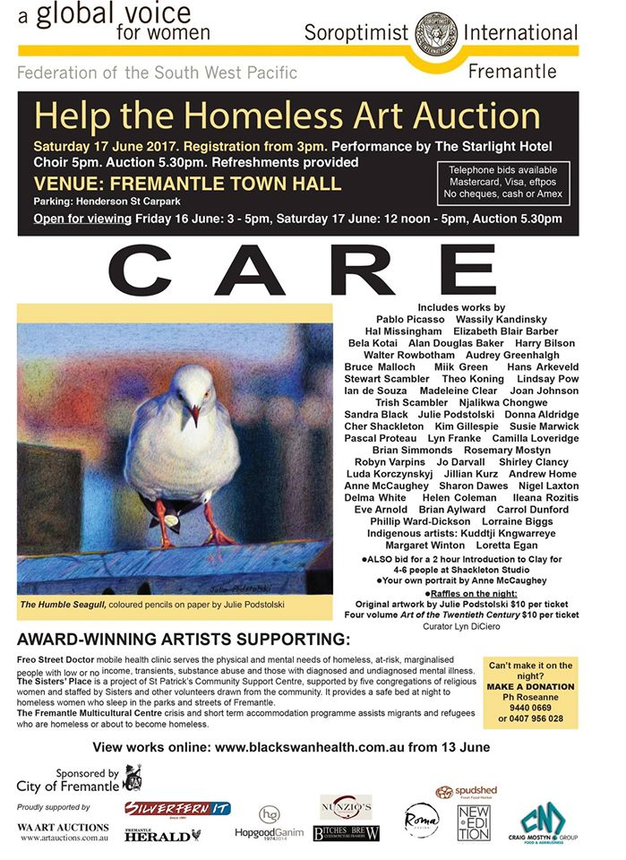 Homeless art auction June 17