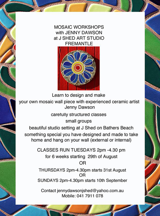 Jenny Dawson ceramic classes