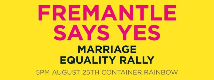 Marriage equality Aug 25