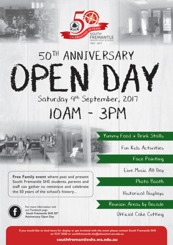 SFSHS Open Day 2017
