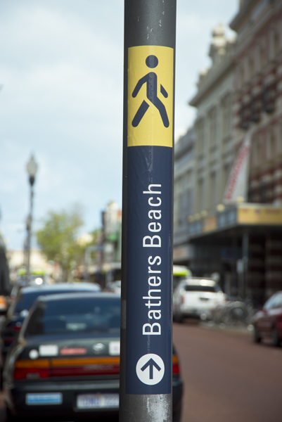 Bathers Beach sign