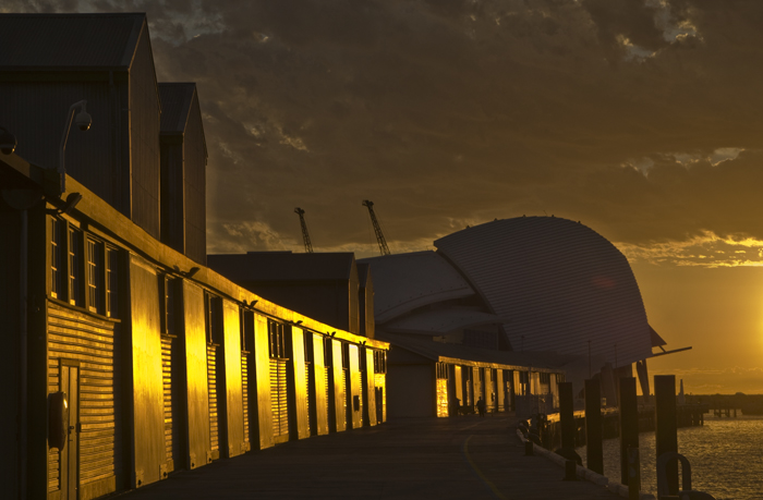 maritime museum sunset