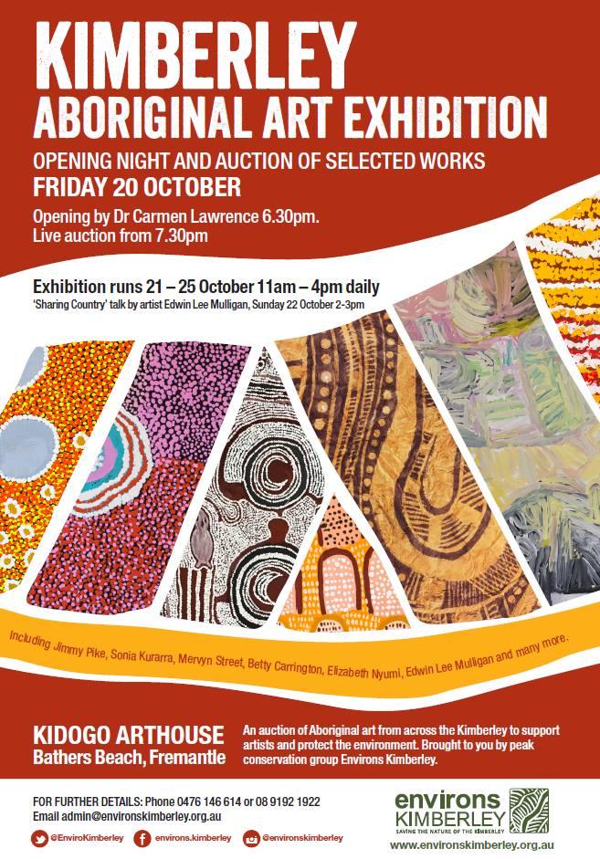 Oct 20. Kimberley Art Kidogo