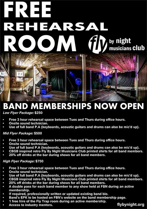 Fly by Night memberships
