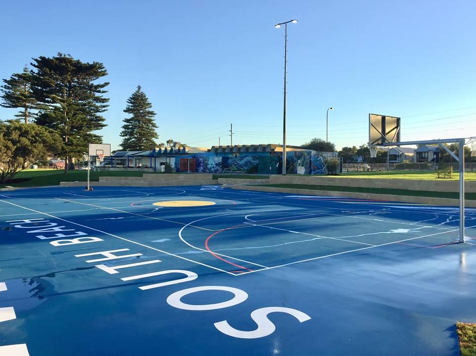 Beach basketball court