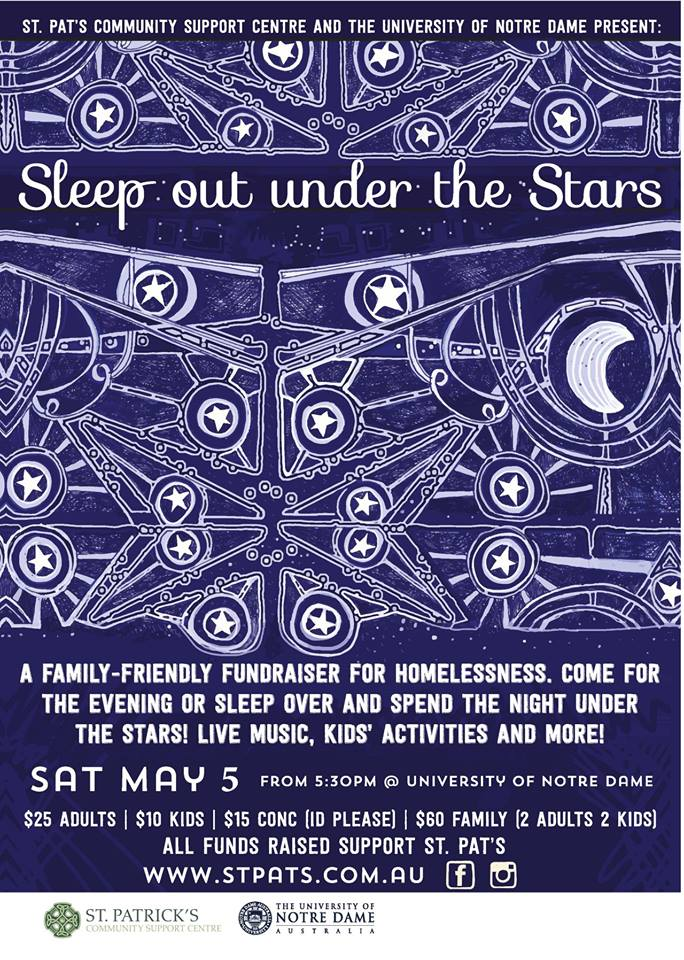 May 5 Sleep uner the Stars
