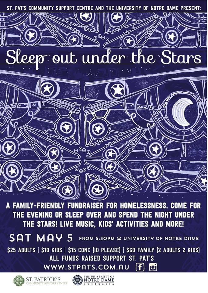 May 5 Sleep uner the Stars