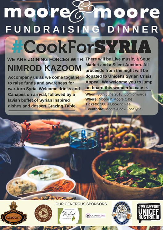 Cook for Syria. June 30