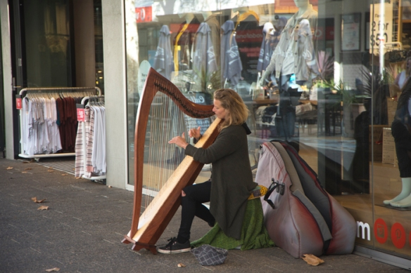 HARPIST ENRICHES FREO SHOPPING MALL   Freo's View