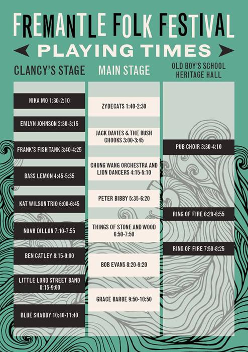 FREO FOLK FEST timeline
