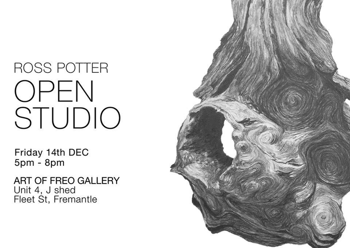 14 Dec Ross Potter open studio