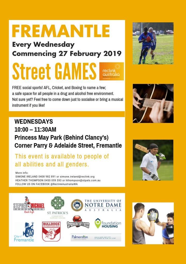 Street Games. Feb 27