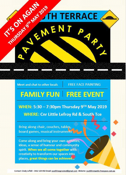 May 9. Street Party Sth Freo